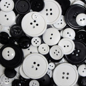 Favorite Findings Big Bag Of Buttons-Tuxedo 3.5oz