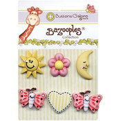 Buttons Galore BaZooples Buttons-Sunny Day Wholesale Bulk