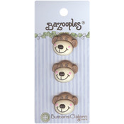 Buttons Galore BaZooples Buttons-Max The Monkey Wholesale Bulk
