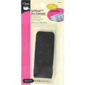 "Soft Seal Bra Extender 1-1/4""-Black"