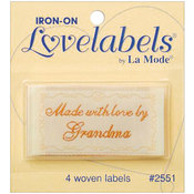 Iron-On Lovelabels 4/Pkg-Made With Love By Grandma