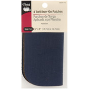 "Iron-On Twill Patches 5""X5"" 4/Pkg-Dark Assortment"