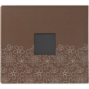 American Crafts Patterned 12 x 12 Album, Brown Wholesale Bulk