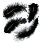 Marabou Feathers .25 Ounces-Black