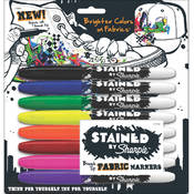 Sanford Stained By Sharpie Multi Fabric Markers, 8-Pack Wholesale Bulk