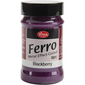 Ferro Metal Effect Textured Paint-Blackberry