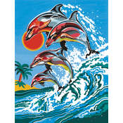 Reeves Medium Paint By Number Kits 9'X12'-Dolphins Wholesale Bulk