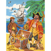 Reeves Medium Paint By Number Kits 9'X12'-Pirate Fantasy Wholesale Bulk