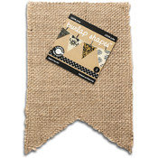 Paintable Burlap Shapes-Flag 1/Pkg
