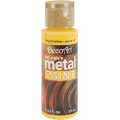 No Prep Metal Paint 2 Ounces-Bright Yellow