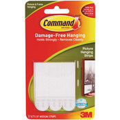 3M Command Medium Picture Hanging Strips, White Wholesale Bulk