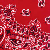 Have-A-Hank Paisley Bandannas 22&quot;X22&quot;-Red