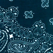 Have-A-Hank Paisley Bandannas 22&quot;X22&quot;-Navy
