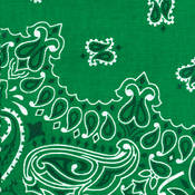 Have-A-Hank Paisley Bandannas 22&quot;X22&quot;-Kelly Green