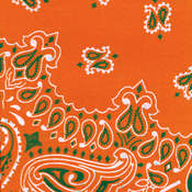 Have-A-Hank Paisley Bandannas 22&quot;X22&quot;-Orange