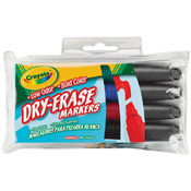 Crayola Dry-Erase Markers-Bold Colors 4/Pkg