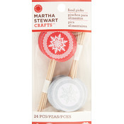 Martha Stewart Snowflake Food Picks, 24-Pack Wholesale Bulk