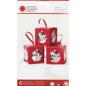 Martha Stewart Snowflake Ornament Treat Box, 6-Pack Wholesale Bulk