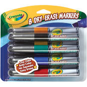 Crayola Dry-Erase Markers-Assorted Colors 8/Pkg