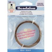 Beadalon German Antique Brass 22 Gauge Style Wire Wholesale Bulk