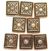 Jolees Swarovski Elements Sliders-Antique Gold/Crystal Wholesale Bulk