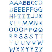 Crystal Stickers Alphabet 58/Pkg-Royal Blue