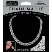 Chain Maille Jewelry Kit-18 Helms Necklace - Silv Wholesale Bulk