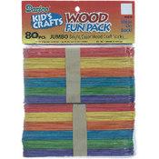 Darice Wood Jumbo Craft Sticks - Assorted Colors-5.75' Wholesale Bulk