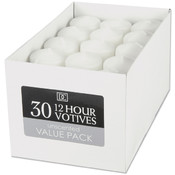 Unscented 12 Hour Votive Candles- White