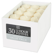 Unscented 12 Hour Votive Candles- Ivory