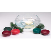 "Unscented Floating Candle Disk 3""-White"