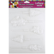 Sweet Shoppe Candy Molds-Christmas Lollipop 5 Cavi Wholesale Bulk