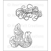 Heartfelt Creations Stamps, Swirly Holiday Dove