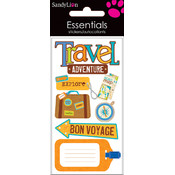 Trends International Essentials Dimensional Stickers, Travel Adventure Wholesale Bulk