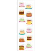 Mrs. Grossman's Stickers-Birthday Cakes