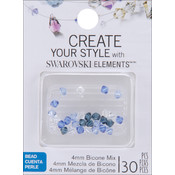 Jolees Swarovski Elements Bicone-4mm Blue Belle Mix Wholesale Bulk