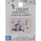 Jolees Swarovski Elements Bicone-4mm Fuchsia Mix Wholesale Bulk