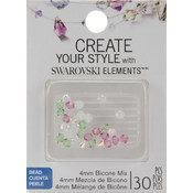 Jolees Swarovski Elements Bicone-4mm Lotus Mix Wholesale Bulk