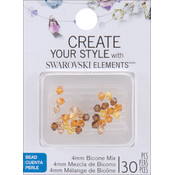 Jolees Swarovski Elements Bicone-4mm Topaz Mix Wholesale Bulk