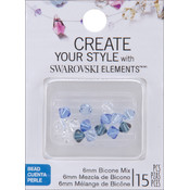 Jolees Swarovski Elements Bicone-6mm Blue Belle Mix Wholesale Bulk