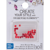 Jolees Swarovski Elements Bicone-4mm Red Mix Wholesale Bulk