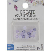Jolees Swarovski Elements Bicone-6mm Purple Mix Wholesale Bulk