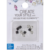Jolees Swarovski Elements Bicone-6mm Salt & Pepper Mix Wholesale Bulk