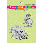 Stampendous Cling Rubber Stamp-Bonnet Spring Chick