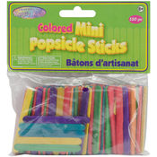 Multicolor Mini Popsicle Sticks, 150-Pack