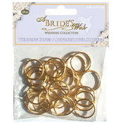 Gold Wedding Rings, 24-Pack