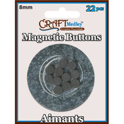 American Classics Corp Magnetic 8mm Buttons On Mirror, 22-Pack Wholesale Bulk