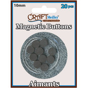 American Classics Corp Magnetic 10mm Buttons On Mirror, 20-Pack Wholesale Bulk