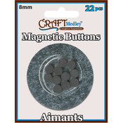 American Classics Corp Magnetic 15mm Buttons On Mirror, 14-Pack Wholesale Bulk