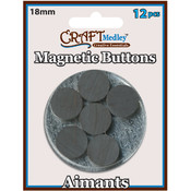 American Classics Corp Magnetic 18mm Buttons On Mirror, 12-Pack Wholesale Bulk
